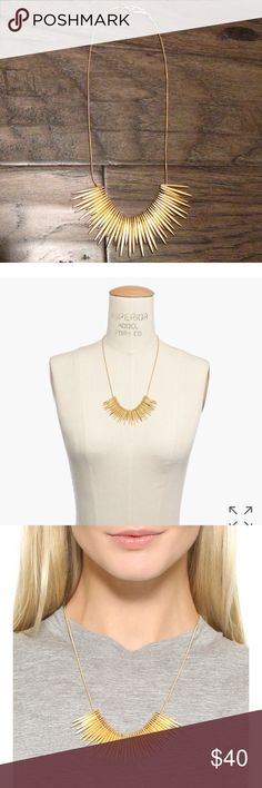 Madewell Thistle Statement Necklace 21 inches. Brass. Hook closure. Madewell Jewelry Necklaces