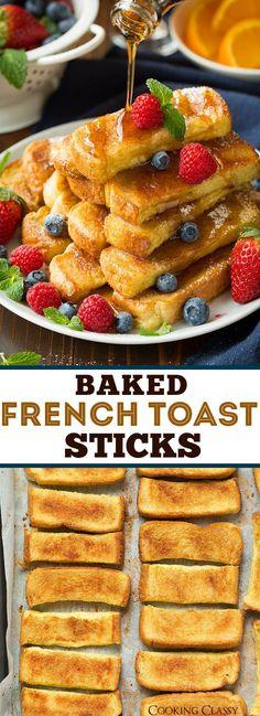 Baked French Toast Sticks | Cooking Classy | Breakfast Recipe Ideas | Yummy Breakfast (Sweet Recipes Breakfast)