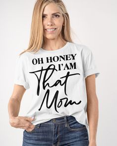 Oh Honey I Am that Mom Mothers Day Funny Classic T-Shirt Ball Mom Softball Baseball Mothers Day Messy Bun. Baseball softball fan tee with skull messy bun graphic makes a great for mom, baseball softball pitcher and catcher. Mom Life Soccer Lover Mothers Day Messy Bun. Soccer fan design with cute messy bun graphic makes a great design for soccer mom, mommy, mother Grab this Design as an awesome outfit for your men women, family members, friends, coworkers on Mothers Day Mom And Me Shirts, Mothers Day T Shirts, Family Shirts, Shirts For Girls, Best Gifts For Mom, Unique Mothers Day Gifts, Mothers Day Presents, Quote Shirts, Shirt Sayings
