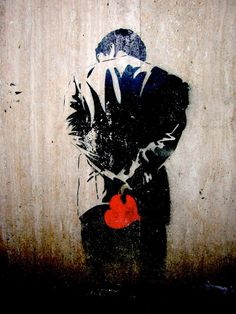 Claire street art paris Love is one of eternal subjects of art. The emotion is also explored in street art by street artists. Banksy Graffiti, Street Art Banksy, Murals Street Art, Bansky, Street Art Love, Amazing Street Art, Subject Of Art, Urbane Kunst, Arte Popular