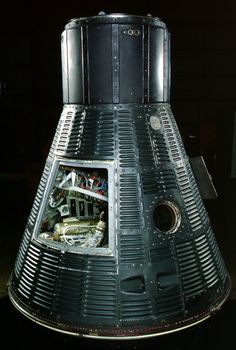 """Mercury """"Freedom capsule in which Alan Shepard became the first American in space on May Currently on loan to Takayama Sudds Library Cosmos, Project Mercury, Nasa Space Program, Air And Space Museum, Space Center, Space Race, Space And Astronomy, Capsule, Takayama"""