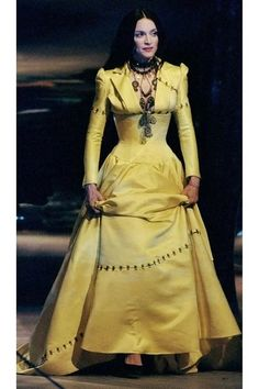 """Suzy on Olivier Theyskens: """"She Walks in Beauty"""" Madonna 1998 Fashion Artwork, Fashion Books, Fashion Show, Crinoline Dress, She Walks In Beauty, Fashion Articles, Young Models, Material Girls, Beautiful Dresses"""