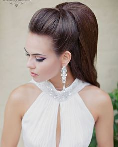 A ponytail is an informal, easy and cozy coiffure for lengthy to quick hairstyles but it may be so versatile that may be tailored for various events. A ponytail is the most typical and simple coiffure Ponytail Hairstyles, Bride Hairstyles, Pretty Hairstyles, Wedding Hair And Makeup, Bridal Hair, Hair Makeup, Wedding Updo, Wedding Bride, Wedding Hair Inspiration