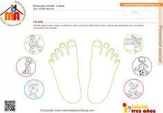 Los pies: Personal social  3 años