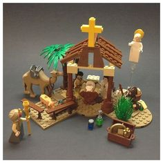 ~ Lego Mocs Holidays ~ Christmas ~ As Christmas draws to a close and the holidays fully kick into gear, I thought that I'd share this nativity scene model created by agencyORANGE before I go away on holiday (you will have noti… Lego Christmas Village, Christmas Nativity Scene, Kids Christmas, Nativity Scenes, Christmas Christmas, Lego Winter, Lego Activities, Christmas Activities, Christmas Printables