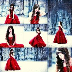 This would be such a fun( but cold) shoot. A princess wondering in the woods. Maybe a Prince hiding nearby. ~Ally