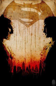 V Batman Superman: cartel minimalista homenaje a la película