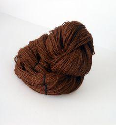 Cocoa - soft, sport weight handspun huacaya alpaca 2 ply yarn by EarthMother Designs.