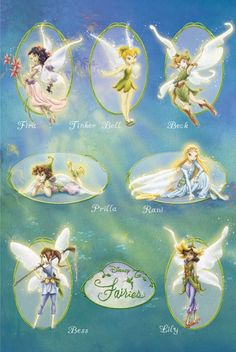 disney fairies (from the book series I read when i was in like 3rd grade)