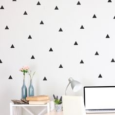 Triangle Wall Decals Black