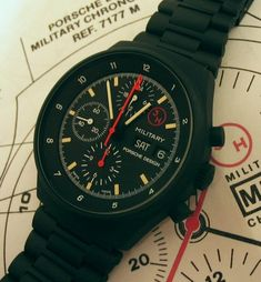 To know more about Porsche Design Military Chrono, visit Sumally, a social network that gathers together all the wanted things in the world! Featuring over 211 other Porsche Design items too! Tactical Watch, Tactical Wear, Military Fashion, Military Style, Watch Companies, Porsche Design, Watches For Men, Men's Watches, Casio Watch