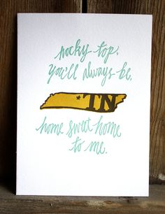 Tennessee + letterpress = perfection.  Love it!
