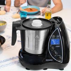 Cecotec IronMix - Robot de cocina de 3,3 litros y hasta 22 funciones. 12 velocidades, temperatura hasta 120ºC y temporizador hasta 60 minutos (incluye vaporera, múltiples accesorios y recetario): Amazon.es: Hogar Drip Coffee Maker, Kettle, Products, Drink Recipes, Kitchen Items, Food Processor, Blenders, Pots, Tea Pot