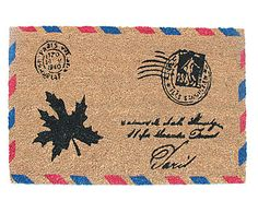 Capacho Stamp Leaf - 45X75cm