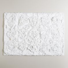 White Rosette Bath Mat | World Market