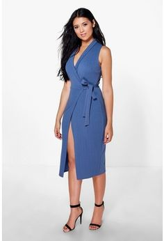 43869b155b09 Imogen Tie Wrap Midi Dress Latest Dress