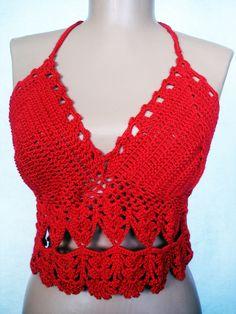 Summer Crochet Beach Dress TopLongline by PrettyTurkishThings, $40.00