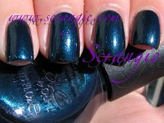 Nicole By OPI Too Rich For You (Shimmery Deep Peacock Blue)