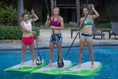 Caroline Garcia en plein paddle yoga (3)