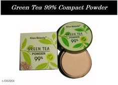 Compact Kiss Beauty  Green Tea 99%  Compact Powder Product Name: Kiss Beauty  Green Tea 99%  Compact Powder Multipack: 1 Product Type: Compact Powder Quantiy : 2 gm Country of Origin: India Sizes Available: Free Size   Catalog Rating: ★4.2 (2104)  Catalog Name: Make Up Proffesional Finishing Compact CatalogID_753155 C173-SC1994 Code: 651-5107254-522