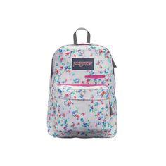 JanSport Digibreak Backpack (750 MXN) ❤ liked on Polyvore featuring bags, backpacks, backpack laptop bag, laptop rucksack, jansport bags, floral laptop bag and padded backpack