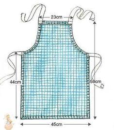 Child Apron Pattern, Apron Pattern Free, Sewing Patterns Free, Free Sewing, Sewing Tutorials, Sewing Projects, Sewing Diy, Free Tutorials, Quilting Patterns