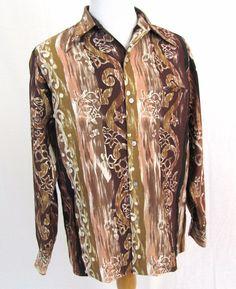 Tori Richard Hawaiian Shirt Large Vintage Hippie Floral Wide Collar Aloha Camp #ToriRichard #Hawaiian
