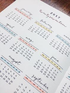 I love love love this calendar set up! So pretty with the pastel colors! #calendar #bulletjournal #ideas