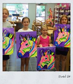 Electric zebra canvas painting class