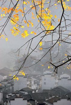 Chinese ancient town Chencun,Jiangxi.