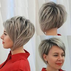 Long pixie haircuts are a wonderful way to apply to short hair. Angled Bob Hairstyles, Cute Hairstyles For Short Hair, Short Hair Cuts For Women, Medium Hair Cuts, Curly Hair Styles, Beautiful Hairstyles, Pixie Haircuts, Trendy Hair, Hair Dos