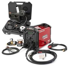 Lincoln Electric Power MIG 210 Multi-Process Welder Aluminum One-Pak, Lightweight and portable–just 40 lbs. Fast shipping on Lincoln multiprocess welding machines and welding supplies. Shielded Metal Arc Welding, Metal Welding, Welding Art, Welding Design, Welding Helmet, Welding Classes, Welding Jobs, Welding Projects, Metal Projects