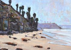 Grandview Beach, Encinitas San Diego Landscape Painting