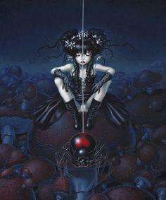 Trevor Brown - English artist Trevor Brown who currently resides in Japan focuses his disturbing artwork on BDSM and other fetish themes. Trevor Brown, Spider Art, Dark Artwork, Arte Obscura, Brown Art, Goth Art, Pop Surrealism, Creepy Cute, Baby Art