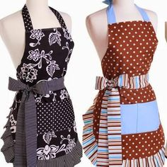 Molde do avental ou sew apron patterns . Sewing Aprons, Sewing Clothes, Diy Clothes, Flirty Aprons, Cute Aprons, Sewing Lessons, Sewing Hacks, Apron Designs, Aprons Vintage