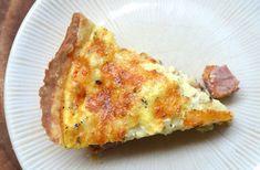 Tarte aux knackis et moutarde WW, recette d'une savoureuse tarte salée légère, facile et simple à réaliser pour un repas léger du soir.