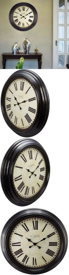 Wall Clocks 20561 Round Clock Wall Mount Antique Roman Numeral Time Home Decoration Living Room