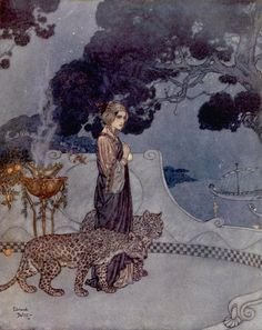 Circe the Enchantress by Edmund Dulac (L'Illustration magazine, 1911)