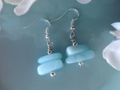 Check out this item in my Etsy shop https://www.etsy.com/listing/242520091/sea-glass-earrings-aqua-stacked-seaglass