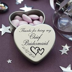 Luxury Personalised Wedding Gifts for Guests, Makes the perfect Keepsake and Momento for your Special Day with mints or chocolates. (Chief Bridesmaid), http://www.amazon.co.uk/dp/B00LT0ZW1M/ref=cm_sw_r_pi_awdl_pO67wb0NYFAQX