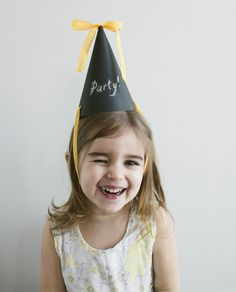 Chalk Board Party Hat | a subtle revelry