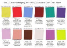 palette top 12 Pantone fashion report Spring 2018