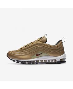 online retailer d7abf 8dc1f Nike Air Max 97 OG QS Metallic Gold White Black Varsity Red 884421-700 Air