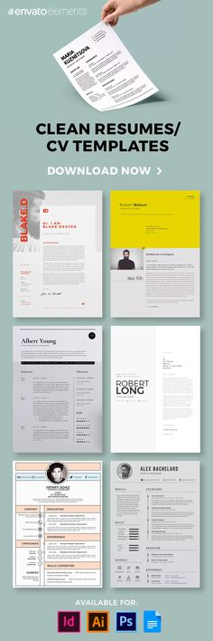 Landing Your Dream Job Starts With an Impressive Resume. Find the Best Resume Templates And Start Your Future On the Right Foot! Best Resume Template, Cv Template, Print Templates, Web Design, Resume Design, Resume Tips, Resume Examples, Resume Ideas, Resume Cv