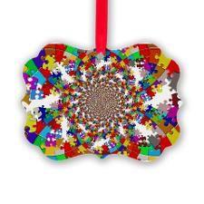 Autism Puzzle Design Ornament