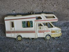 1970s motor home Christmas ornament Christmas by rivertownvintage