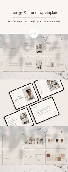 Whether you're creating for yourself or your client, this Strategy & Branding template will help you focus to create a beautiful and thoughtful brand. This template allows you to have both strategy and branding in one place, so you can key-in on what's most important for your brand. Check out this Brand Strategy template now! Brand Identity Design, Brand Design, Brand Strategy Template, Branding Template, Lead Magnet, Business Checks, Business Journal, Starting Your Own Business, Website Template
