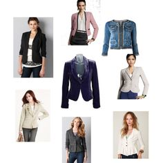 """""""Short Jackets - Soft Gamine Look - Part 2"""" by lilywatanbe on Polyvore"""