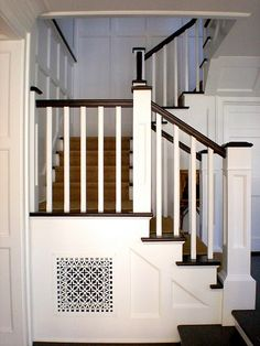 If we had a real staircase I would be all about this. Plus look at the pretty air vent cover.