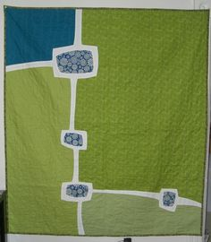 Modern quilt back. - @Bettie Walker Stueber - Looks like something Yummy would love